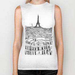 Paris Rooftops Biker Tank