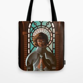 joan of arc praying Tote Bag