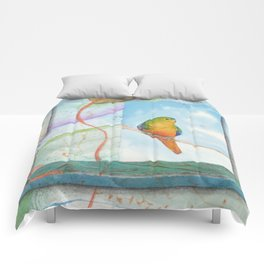 Song for Orange Bellied Parrot Comforters