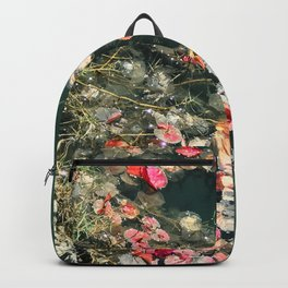 Beautiful Wildflowers in Forest Green Pond Backpack