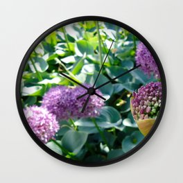 Alliums in Tivoli Wall Clock