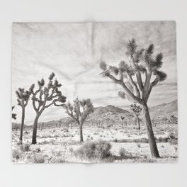 Joshua Tree Grey By CREYES Throw Blanket