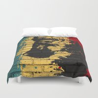 puppy Duvet Covers featuring puppy by Ezgi Kaya