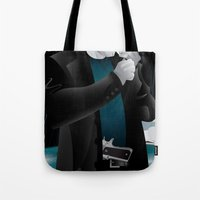 dwight Tote Bags featuring Sin City-Dwight by Szoki