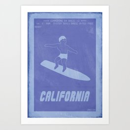 Retrogaming - California games Art Print