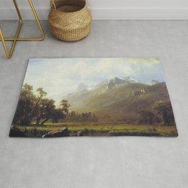 The Sierras Near Lake Tahoe 1865 By Albert Bierstadt | Reproduction Painting Rug