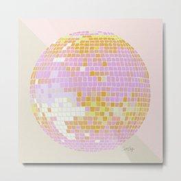 Disco Ball – Peach Metal Print