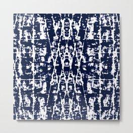 Batik Geometric Metal Print