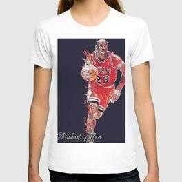 basketball player art 16 T-shirt