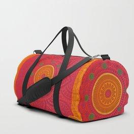 """Fuchsia and Gold Mandala"" Duffle Bag"