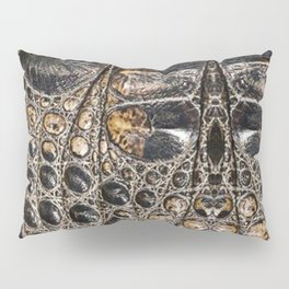 American alligator Leather Print Pillow Sham