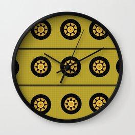 Black sun band Wall Clock