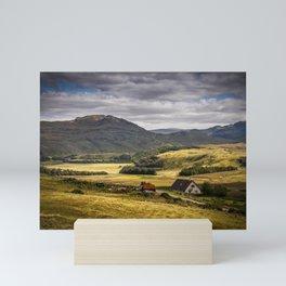 Countryside North of Ullapool Scotland Mini Art Print