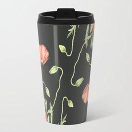 Fragile Beauty - Watercolor Poppies Travel Mug