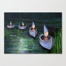 Drifting Down Stream Canvas Print