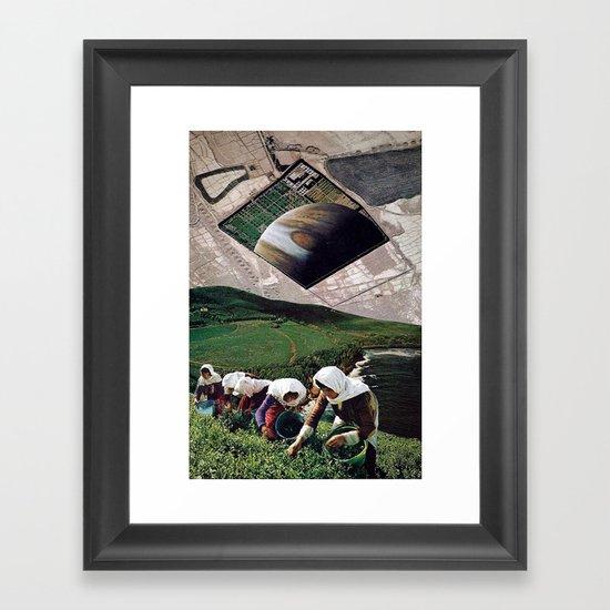 fitter happier Framed Art Print