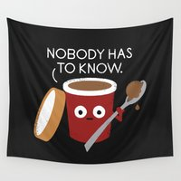yetiland Wall Tapestries featuring Cold Comfort by David Olenick