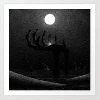 Drawlloween 2016: Skeleton Art Print