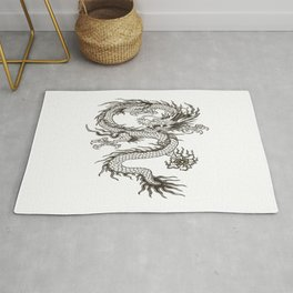 Chinese dragon Illustration Rug