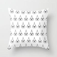 Bum Drops Throw Pillow