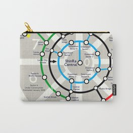 Final Fantasy VII - Midgar Mass Transit System Map Carry-All Pouch