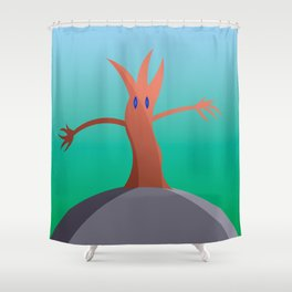 Living Tree On Hill Shower Curtain