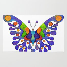 Elenissina - colourful butterfly Rug