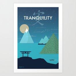 Tranquility (Night) Art Print