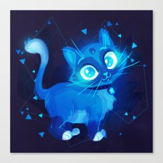 Sapphire Kitty Canvas Print