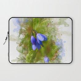 Pretty bluebells on white Laptop Sleeve