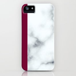 Berry Marble iPhone Case