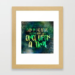 Once Upon A Time (Cinder) Framed Art Print