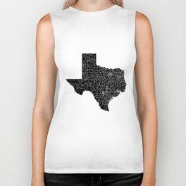 Texas Black Map Biker Tank