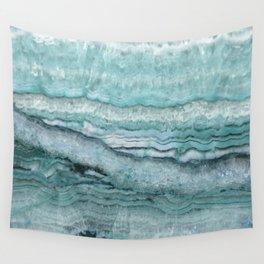 Mystic Stone Aqua Teal Wall Tapestry