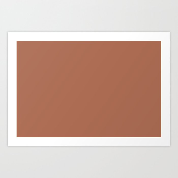 Sherwin Williams Color of the Year 2019 Cavern Clay SW 7701 Solid Color Kunstdrucke