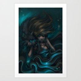 Feeling the night Art Print
