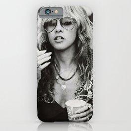 Stevie Nicks Young Black and white Retro Silk Poster Frameless Art Print iPhone Case
