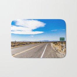 Highway Road Cutting through the Anza Borrego Desert Badlands & Entering San Diego County Sign Bath Mat