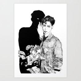 HE is by my side Art Print