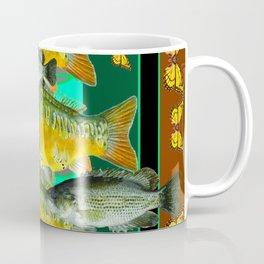 YELLOW MONARCH BUTTERFLIES & BROWN  FISH VIGNETTE Coffee Mug