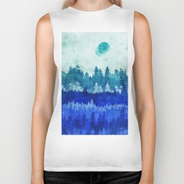 The Blue Forest Moon Biker Tank