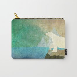 Playful Arctic Polar Bear Carry-All Pouch