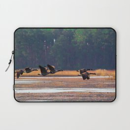 Flying Canadian Geese Laptop Sleeve