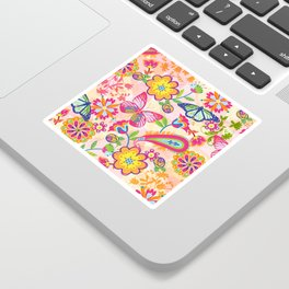 Butterflies and Fowers Sticker