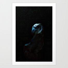 Humanity - Mountain Gorilla in Moonlight Art Print