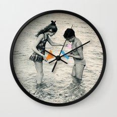 Washed Up Wall Clock