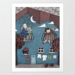 Staying Home (2)  Art Print