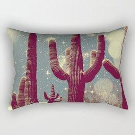Space Cactus Rectangular Pillow