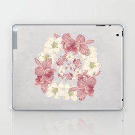 Pink and white floral Laptop & iPad Skin