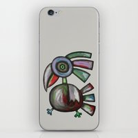parrot iPhone & iPod Skins featuring Parrot by Rudolf Brancovsky